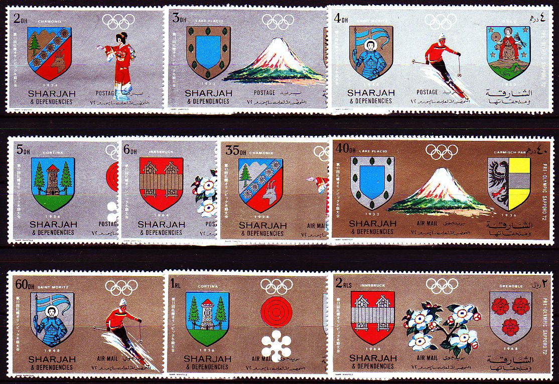 sharjah 1971 olympische spiele olympic games wappen ebay. Black Bedroom Furniture Sets. Home Design Ideas